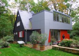 Auf den Punkt Architekten Dresden - Sanierung eines historischen Holzhauses mit Anbau