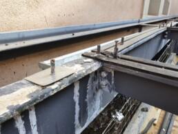 Auf den Punkt Architekten - Instandsetzung Glasdachkonstruktion mit Brandschutzbeschichtung